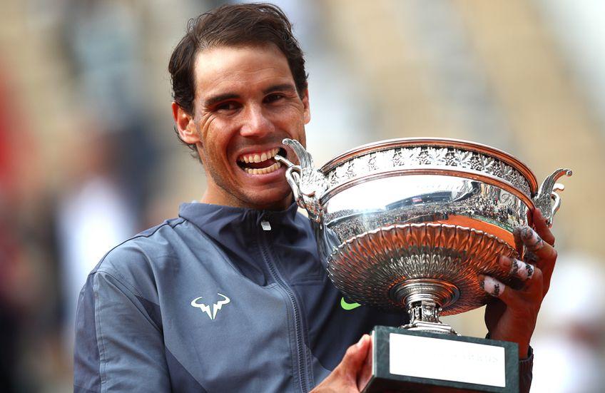 Rafael Nadal cu trofeul de la Paris în 2019 FOTO Guliver/GettyImages