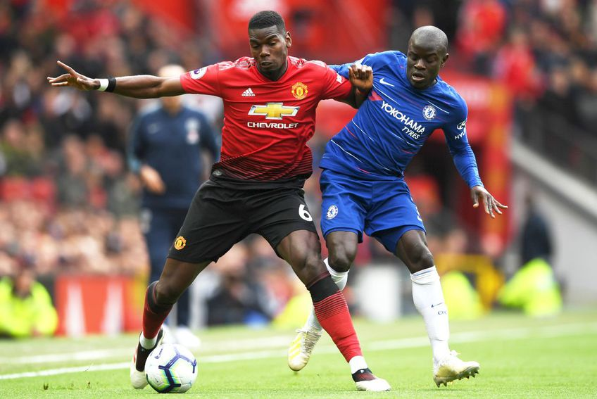 Paul Pogba și N'Golo Kante // foto: Guliver/gettyimages
