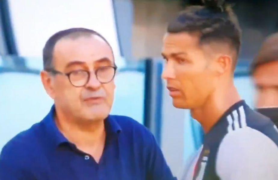 Cristiano Ronaldo n-a ținut prea mult cont de sfaturile lui Maurizio Sarri.