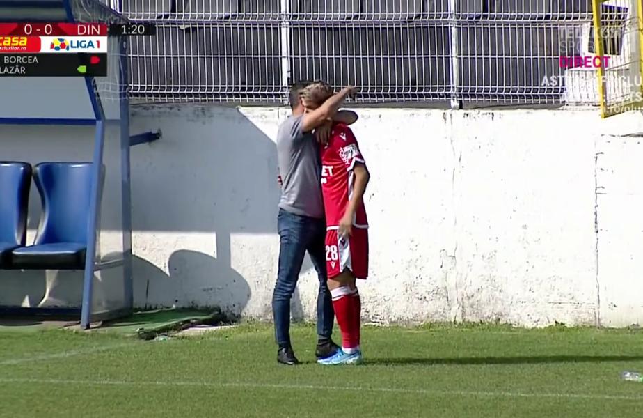 Valentin Ioan Bratu, înlocuit după 76 de secunde