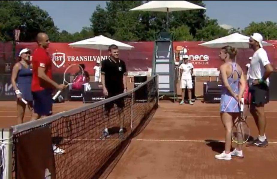Simona Halep și Horia Tecău au câștigat meciul demonstrativ disputat împotriva cuplului Gabriela Ruse/Marius Copil, scor 6-3, 6-4