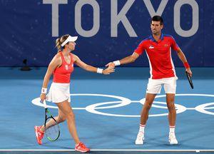 """Mesajul Ninei Stojanovic, după abandonul lui Novak Djokovic din finala mică la dublu mixt: """"Doar eu știu ce-am simțit"""""""
