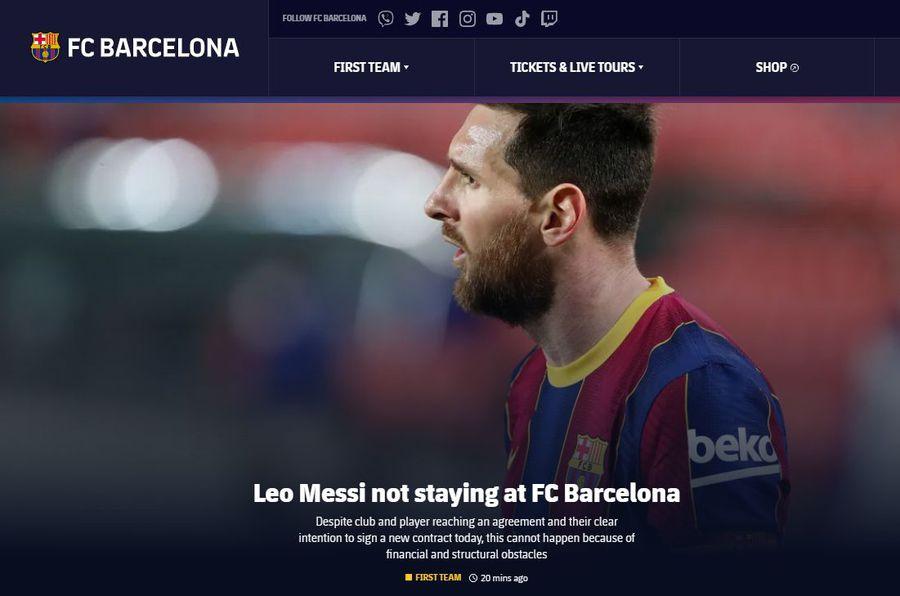 Anunț OFICIAL: Leo Messi NU va mai juca la Barcelona!