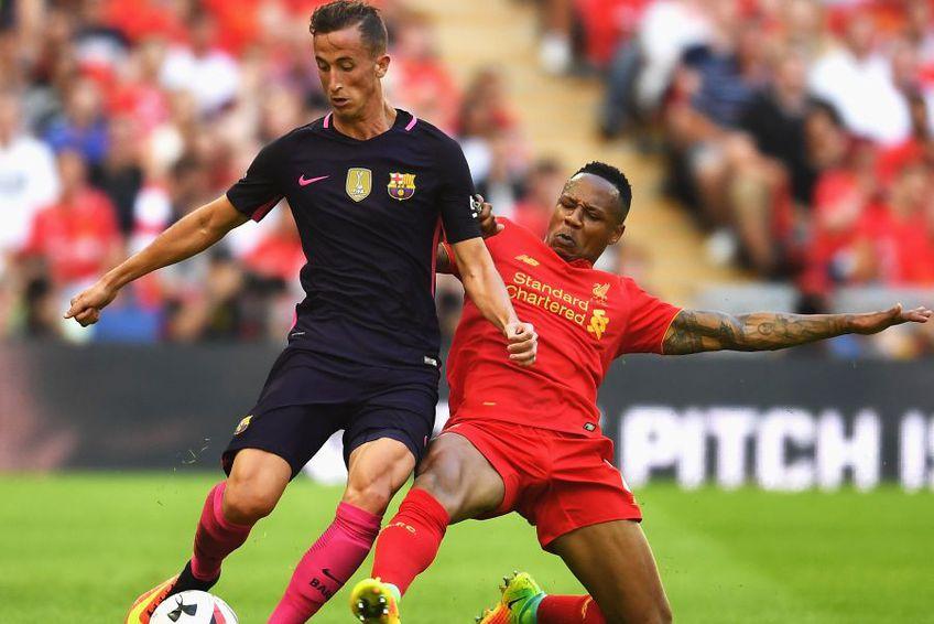 Juan Camara, într-un amical Barcelona - Liverpool. foto: Guliver/Getty Images