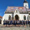 Jucătorii de la Turda în centrul orașului Gorica FOTO