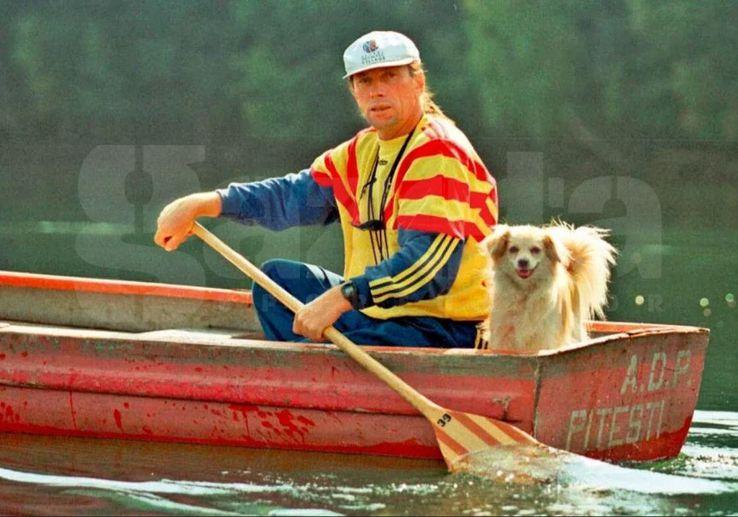 În canoe, alături de cățelușa Blanche  / foto: Gazeta Sporturilor