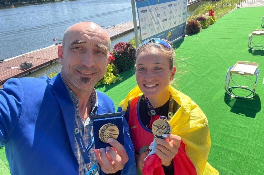 Simona Radiș a câștigat titlul european la simplu și 8 +1