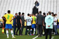 """Brazilia - Argentina, suspendat în minutul 5! Scandal uriaș, """"Pumele"""" în frunte cu Messi au ieșit de pe teren după intervenția autorităților"""
