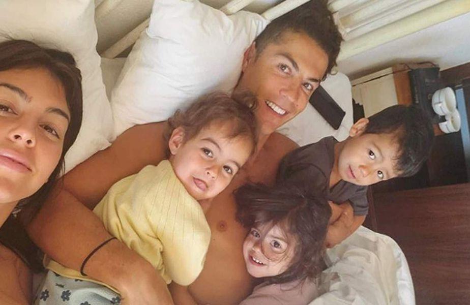 Georgina Rodriguez, Cristiano Ronaldo și copiii acestora