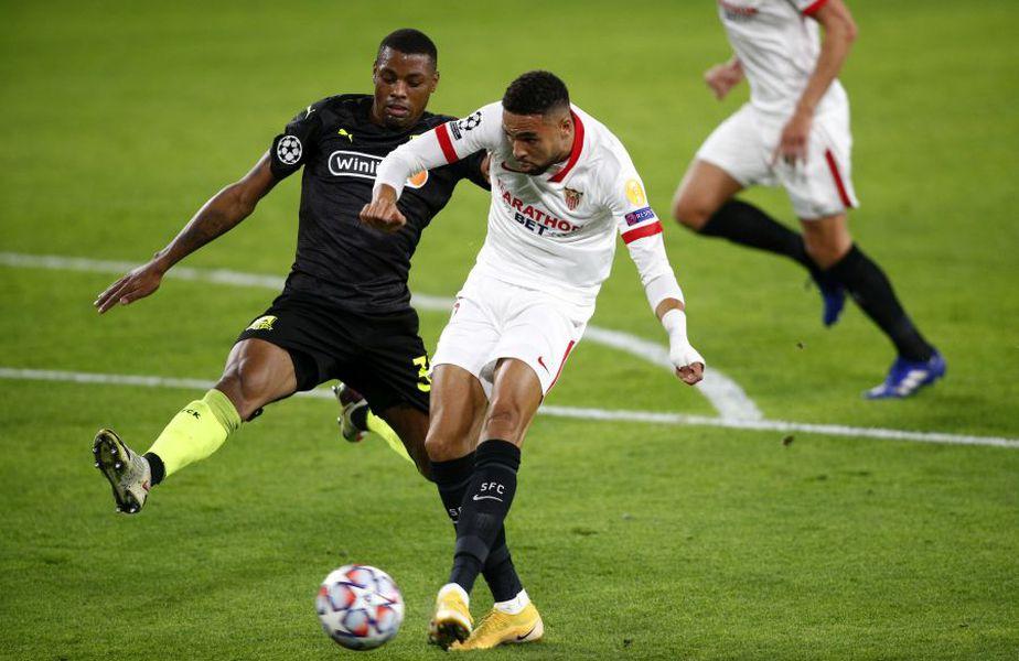 En Nesyri, marcând golul 2 al echipei sale în meciul cu FC Krasnodar // foto: Guliver/gettyimages