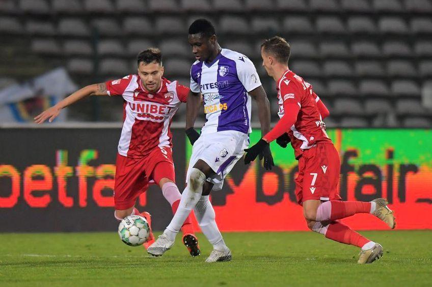 FC Argeș contestă faza din finalul meciului cu Dinamo (0-1), în urma căreia piteștenii trebuiau să beneficieze de un penalty.