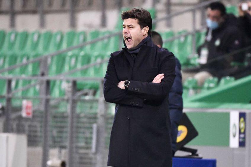 PSG, la debutul lui Mauricio Pochettino pe banca tehnică, a remizat în deplasarea de la St. Etienne, scor 1-1 (Ligue 1, runda #18 @IMAGO