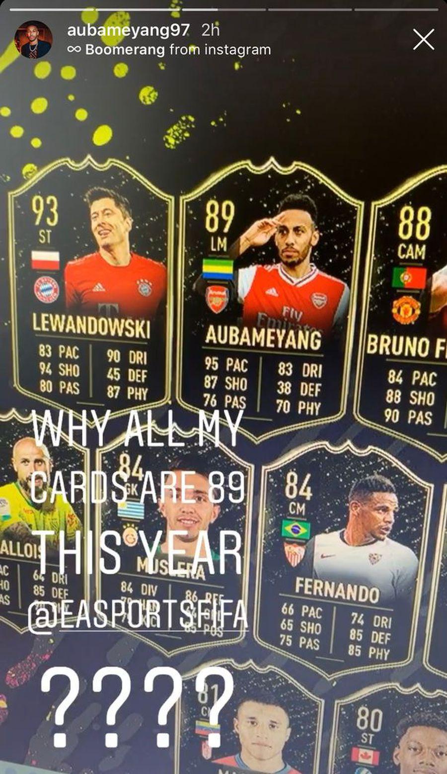 FIFA20 // Reacția amuzantă a lui Pierre Aubameyang, după ce și-a văzut noul card din Ultimate Team