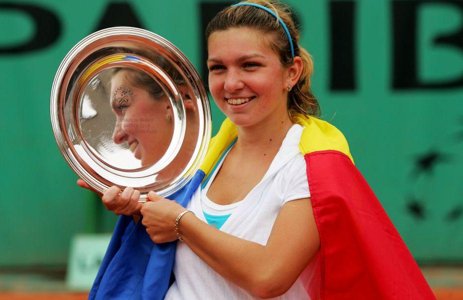 Simona Halep, campioană în 2008 la turneul junioarelor de la Roland Garros // Sursă foto: Guliver/Getty Images