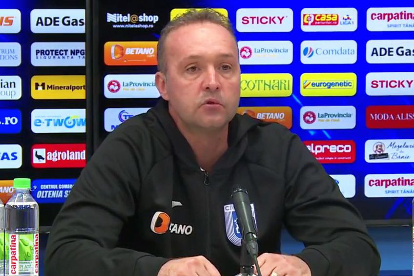 Corneliu Papură le cere jucătorilor atitudine în derby-ul cu FCSB // Sursă foto: Captură Oltenia TV
