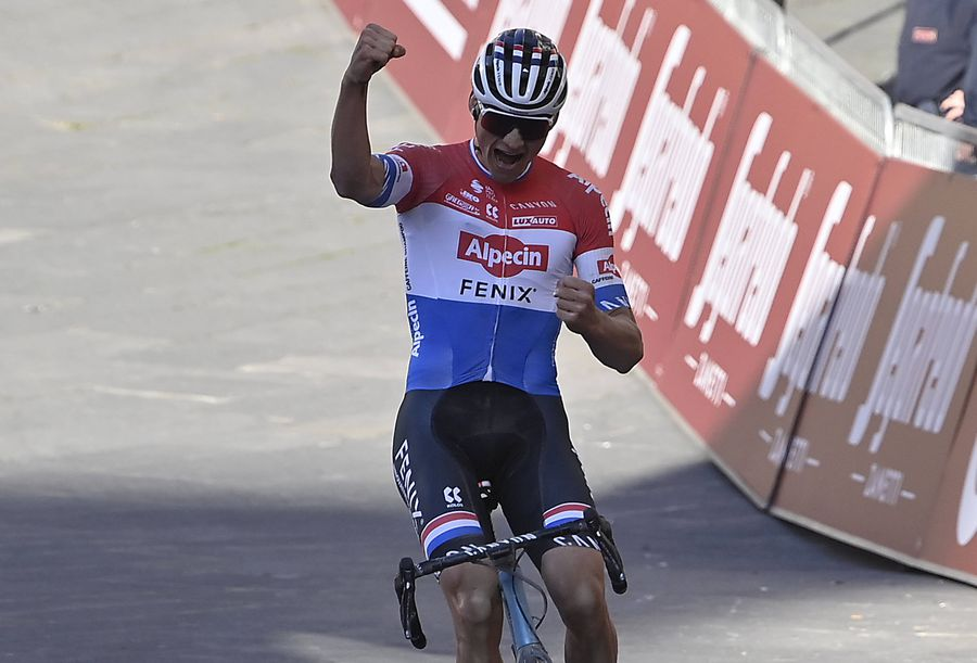 Mathieu van der Poel, câștigător în Strade Bianche