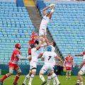 """""""Stejarii"""" au pierdut la limită în fața Rusiei / Sursă foto: Facebook Rugby România"""