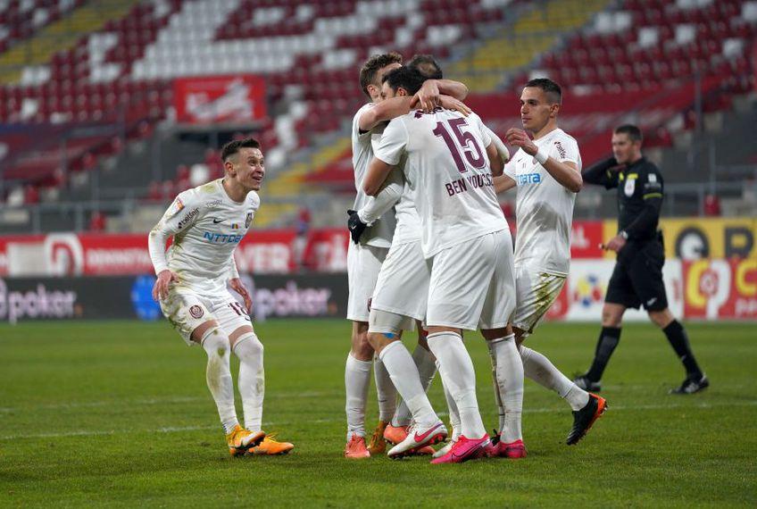 CFR Cluj a învins-o pe UTA, la Arad, scor 1-0, în runda cu numărul 26 din Liga 1.