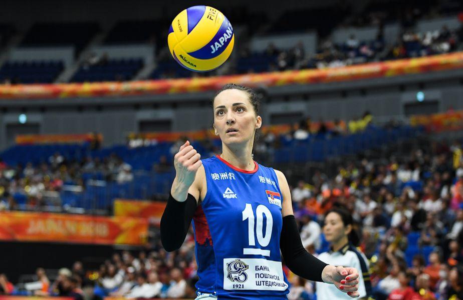Maja Ognjenovic în tricoul Serbiei Foto: Guliver/GettyImages