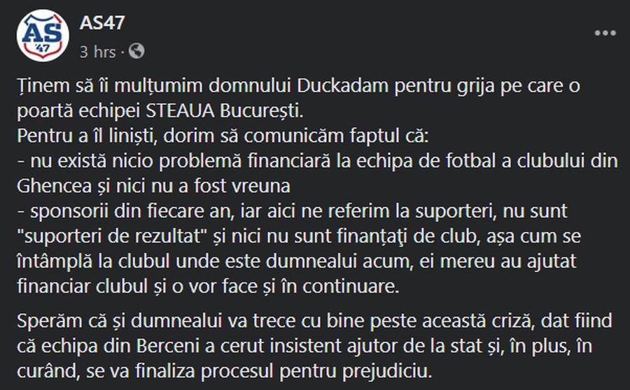 """Suporterii CSA Steaua, replică pentru Helmut Duckadam: """"Sperăm că va trece cu bine peste această criză"""""""