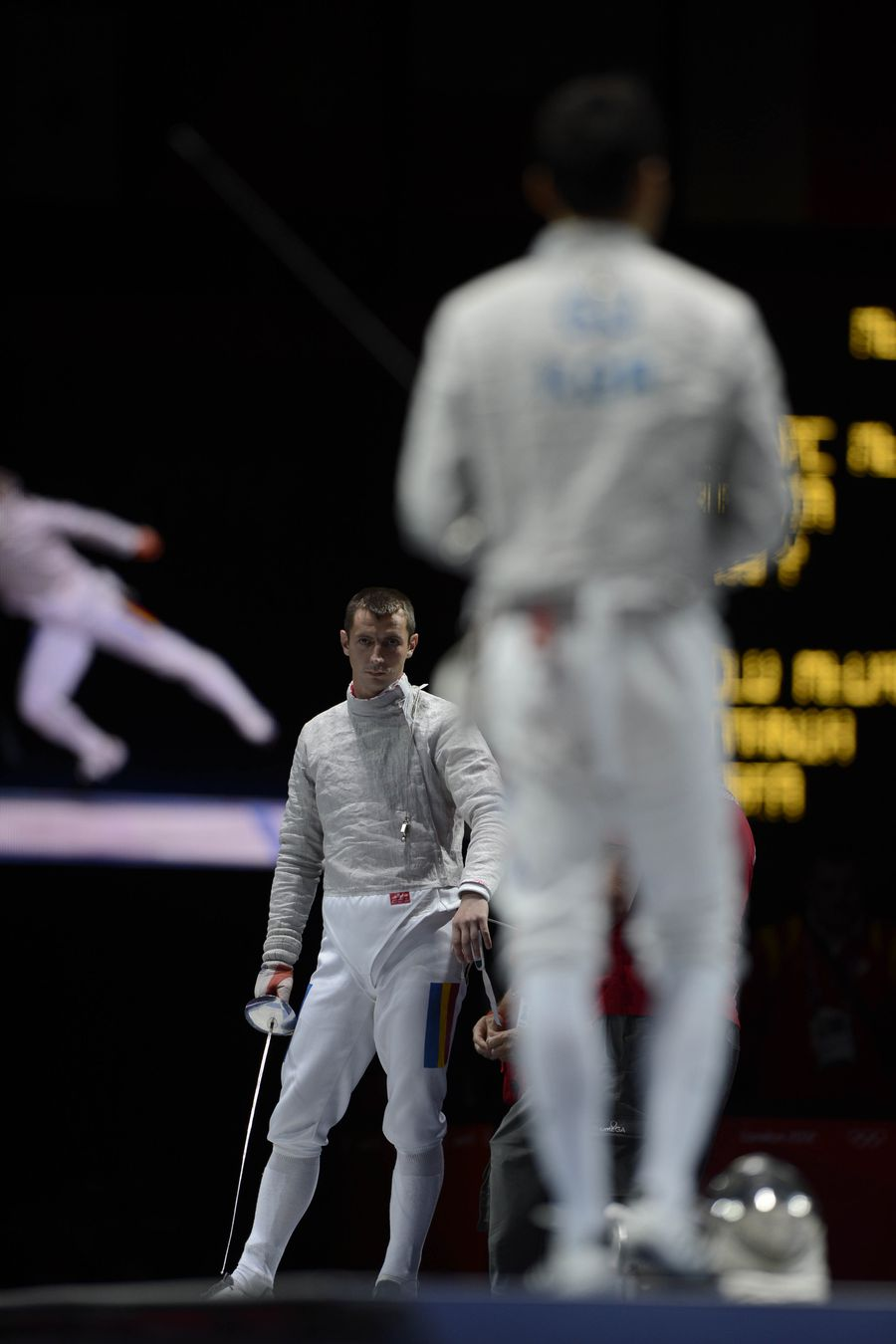 Florin Zalomir pe planșă la Jocurile Olimpice de la Londra FOTO Raed Krishan