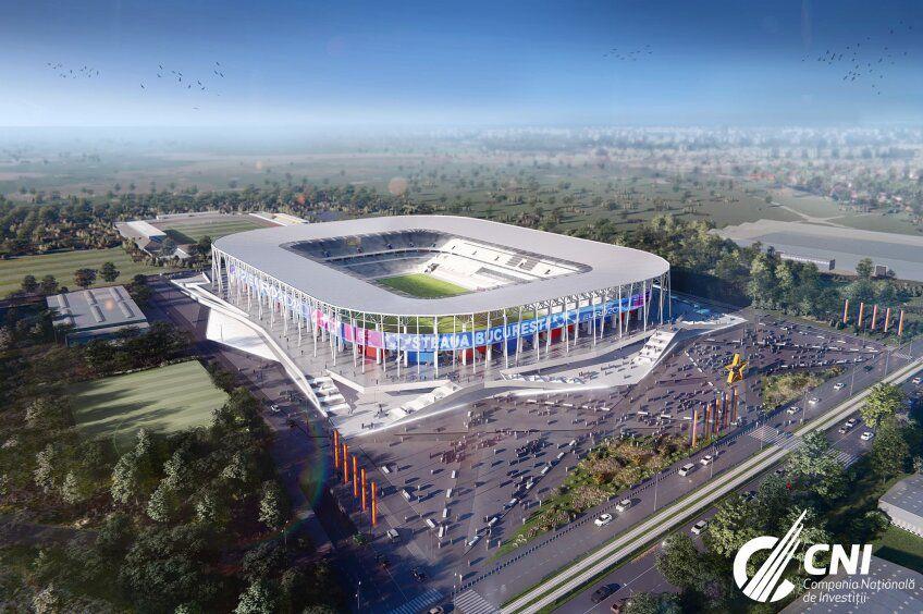 A fost pusă în funcțiune banda luminoasă din jurul noului stadion Ghencea