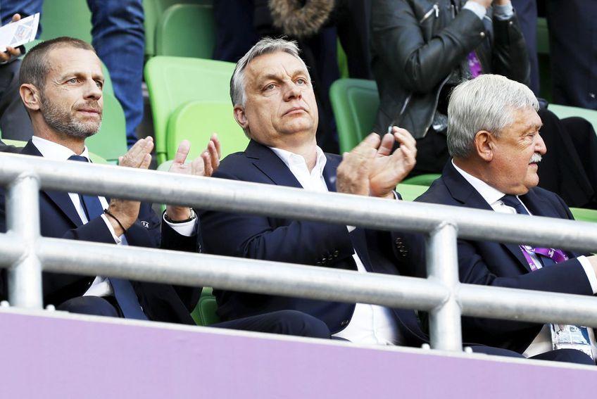 Aleksander Čeferin  și Viktor Orbán