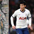 Heung-Min Son, vedeta lui Tottenham, este nevoit să facă 3 săptămâni de stagiu militar // sursă foto: Twitter @ DailyStar_Sport