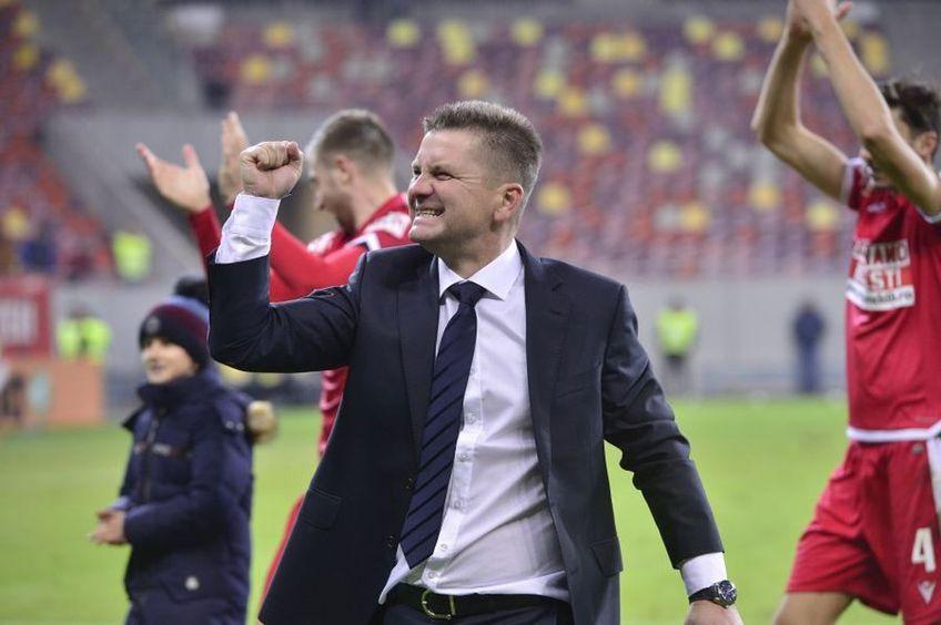 """Dusan Uhrin, antrenorul lui Dinamo, a apreciat atitudinea și devotamentul echipei în ultimele trei meciuri, trei victorii, dezvăluind că """"salvatorul"""" Jonathan Morsay a înscris chiar și cu probleme medicale."""
