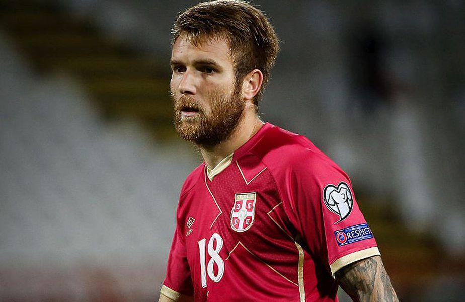 Aleksandar Katai în tricoul naționalei Sergiei // Sursă foto: Getty