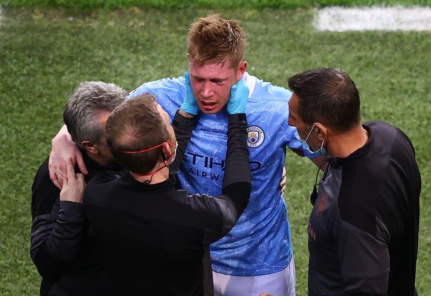 Kevin de Bruyne, accidentat de Rüdiger în finala Ligii cu Chelsea, s-a operat la față (foto: Guliver/Getty Images)