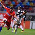 Adrian Petre a jucat opt meciuri la FCSB, șase ca titular, și a marcat un singur gol, dintr-un penalty