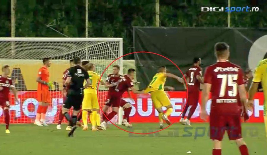 Brigada lui Andrei Chivulete, arbitraj scandalos! Două greșeli pro CFR Cluj în meciul cu CS Mioveni + Reacția lui Mihai Stoica