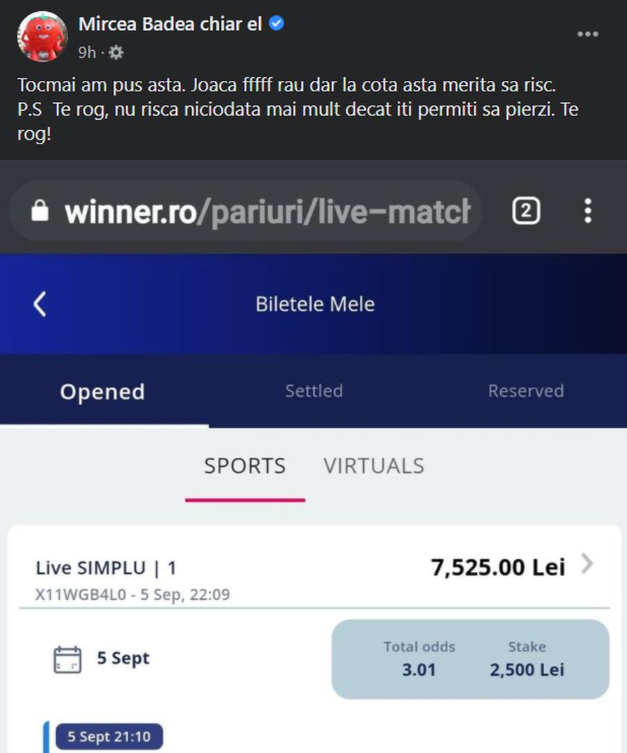 Mircea Badea, două lovituri la pariuri în câteva ore » Suma uriașă câștigată de vedeta TV