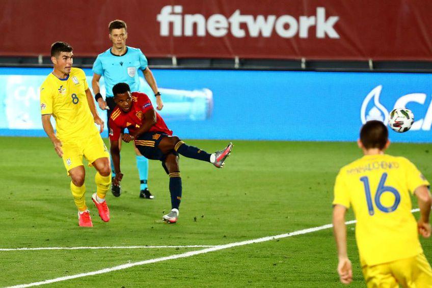 Golul lui Ansu Fati în Spania - Ucraina 4-0 // foto: Reuters