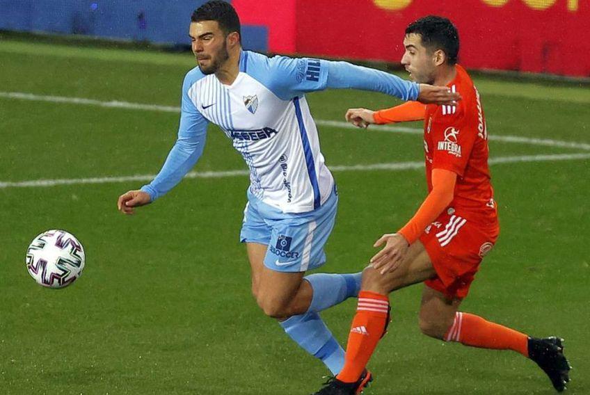 Alexander Gonzalez (stânga), în Malaga - Real Oviedo // foto: Instagram @ malagacf