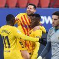Ilaix Moriba (18 ani) sărbătorind primul gol în tricoul Barcelonei FOTO Gettyimages