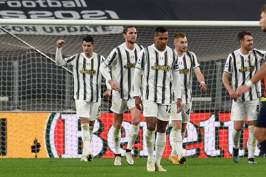 Juventus sărbătorind golul marcat de Morata din penalty FOTO Imago