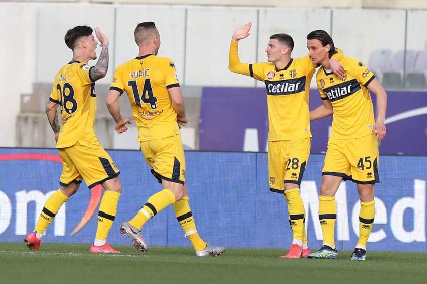 Fiorentina și Parma au remizat în runda #26 din Serie A, scor 3-3. Valentin Mihăilă, introdus la pauză, și Dennis Man, aruncat în luptă în minutul 62, și-au pus amprenta asupra jocului.