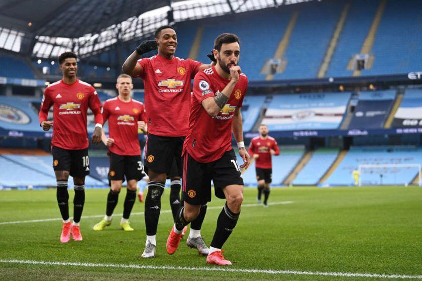Manchester United a învins-o, surprinzător, pe Manchester City, în deplasare, scor 2-0, într-un meci contând pentru runda cu numărul 27 din Premier League.