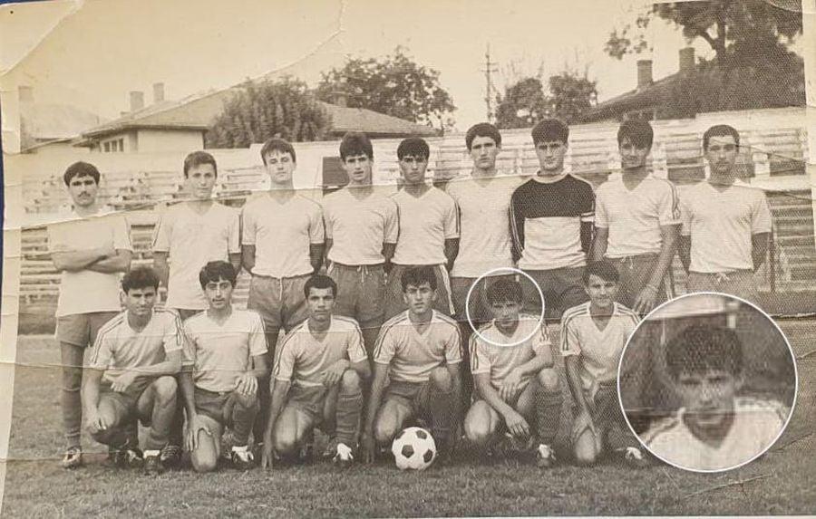 Ștefan Nanu, junior la CSȘ Craiova. Imagine de la jumătatea anilor 80