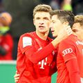 Thomas Muller și Robert Lewandowski (dreapta), doi jucători importanți la Bayern, foto: Guliver/gettyim ages