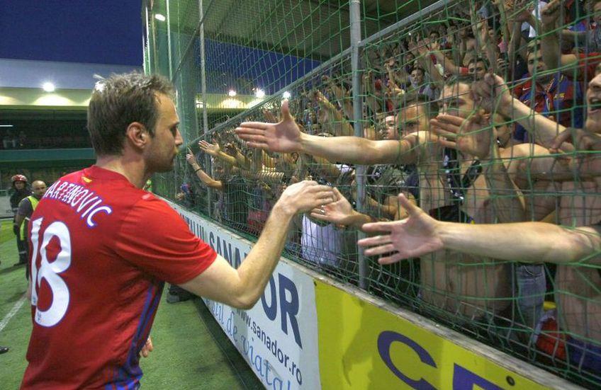 Martinovic a fost foarte apreciat de suporterii FCSB pentru devotamentul său