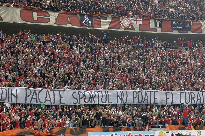 Suporterii lui Dinamo nu-l iartă pe Marcel Bîrsan. Sursă foto: Arhivă Gazeta Sporturilor