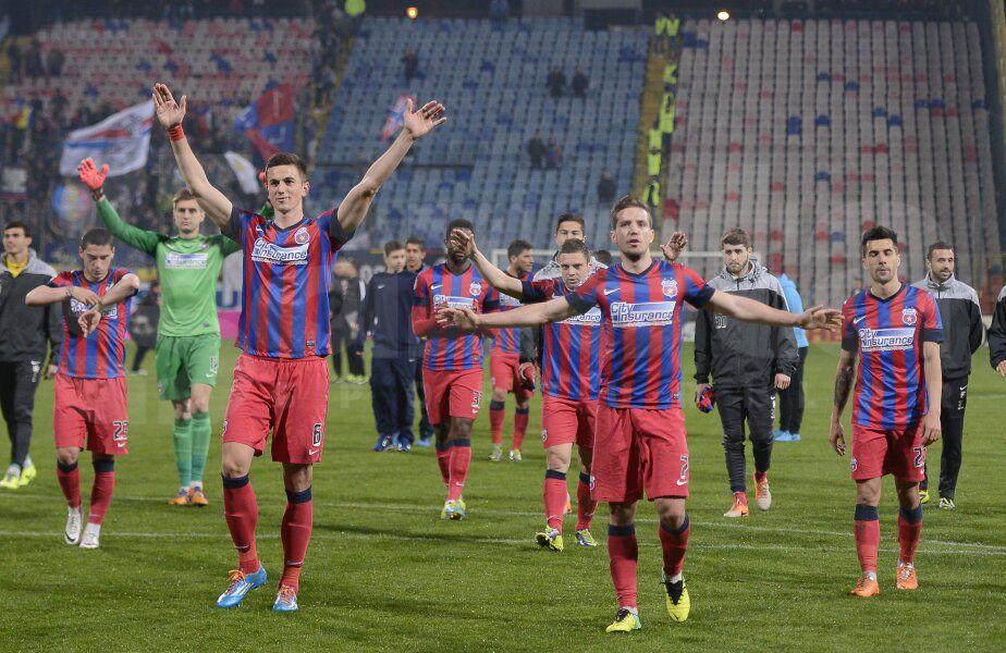 Pîrvulescu (dreapta) a fost marcat de antrenamentele pe care le făcea la FCSB