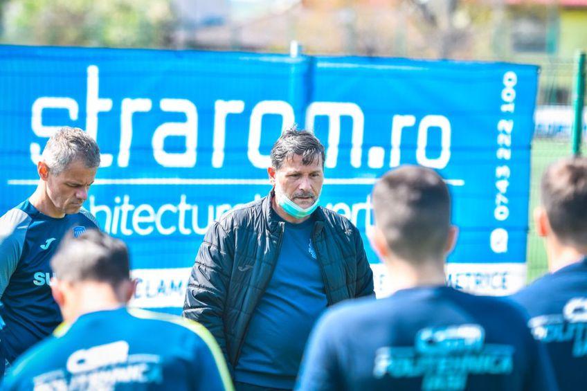 Nicolo Napoli, la antrenamentul celor de la Poli Iași // foto: Facebook