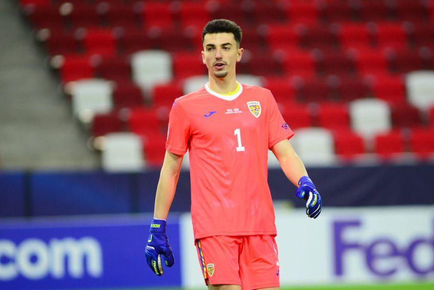 Andrei Vlad (22 de ani), portarul lui FCSB, este nominalizat de UEFA între primii 3 goalkeeperi de la Campionatul European de tineret.