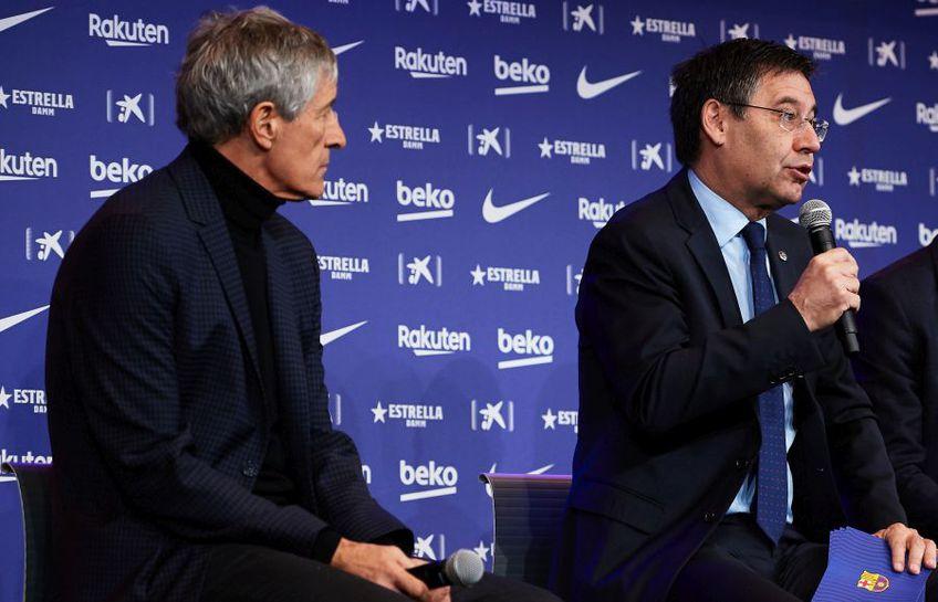 Josep Bartomeu l-a confirmat pe Quique Setien // Sursă foto: Getty