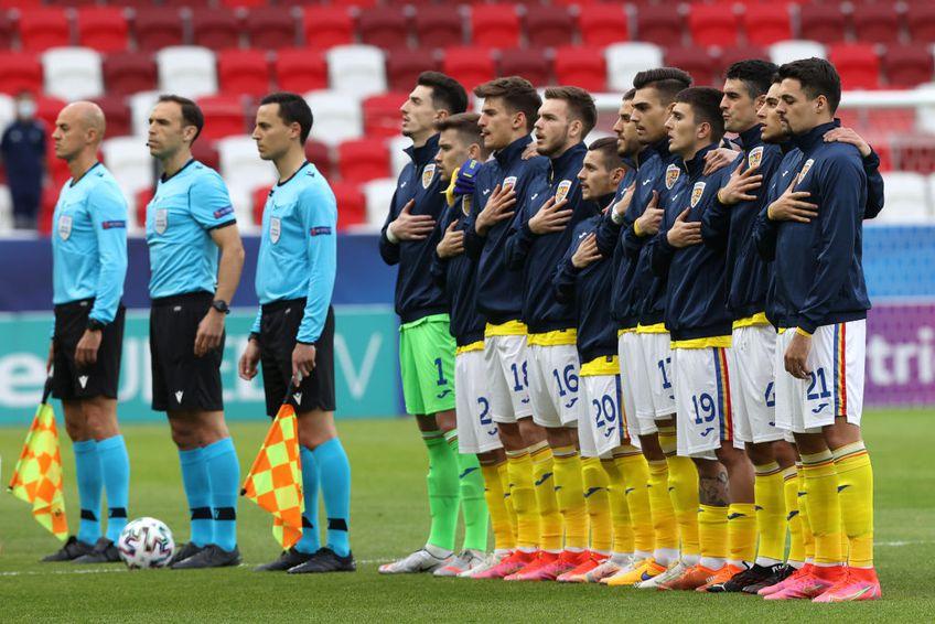 România U21 la meciul cu Germania de la Euro2021 Foto:GettyImages