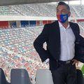 Ilie Dumitrescu (52 de ani) a fost vizibil emoționat la inaugurarea noii arene din Ghencea.